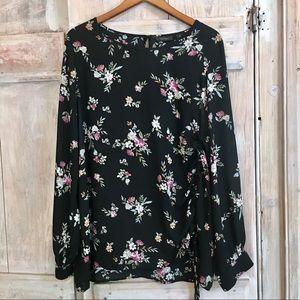 Halogen Nordstrom's Floral Blouse Top XL